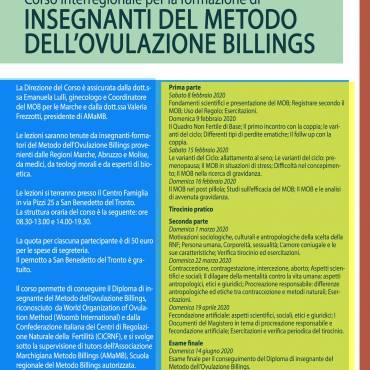 Metodo Billings, inizia il corso di formazione